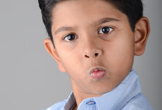 Kid. Indian kid with expression in the face Stock Images