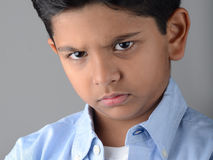 Kid. Indian kid with expression in the face Royalty Free Stock Image