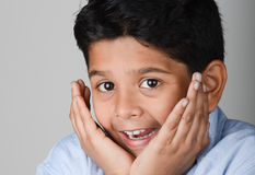Kid. Indian kid with expression in the face Royalty Free Stock Photos