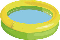 Kid inflatable pool royalty free illustration