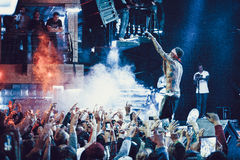 Kid Ink performing live in Moscow, Russia Royalty Free Stock Image