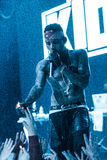 Kid Ink performing live in Moscow, Russia Stock Images