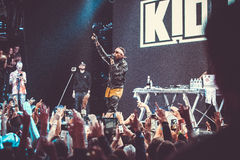 Kid Ink performing live in Moscow, Russia Stock Photos