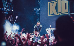 Kid Ink performing live in Moscow, Russia Royalty Free Stock Images