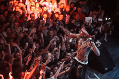 Kid Ink performing live in Moscow, Russia Royalty Free Stock Photos