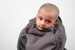 A kid inside a bag Royalty Free Stock Photography