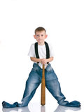 Kid on isolated background Stock Photos
