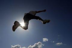 Kid jumping Royalty Free Stock Photos