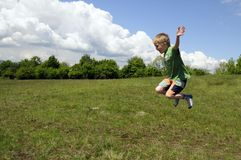 Kid jumping Royalty Free Stock Photo