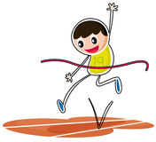 A kid jumping Royalty Free Stock Photography