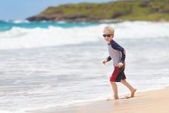 Kid at kauai Stock Images