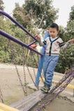 Kid keeping balance Royalty Free Stock Image