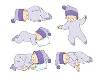 Kid kids sleep sleeping posture Royalty Free Stock Photo
