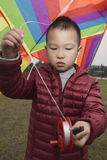 Kid with kite Royalty Free Stock Photography