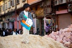 Kid with kite, India Stock Photos