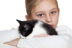 Kid and kitten Royalty Free Stock Photo