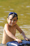 Kid in the lake Royalty Free Stock Photography