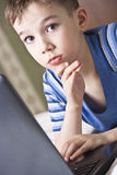 Kid with laptop Stock Photography