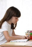 Kid learning royalty free stock image