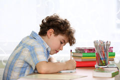 Kid learning stock photos
