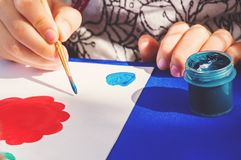 Kid Learning Painting Drawing Art Concept stock image