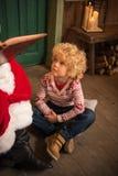 Kid listening fairy story Stock Photography