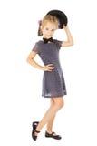 Kid little girl well dressed, children wear Stock Images