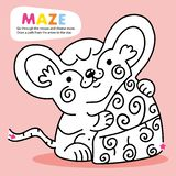 Kid Logic Maze Game Puzzle Mouse Order Printable vector illustration