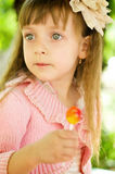 Kid with lollipop Royalty Free Stock Photography