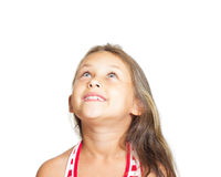 Kid looking up Stock Photography