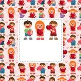 Kid love card Stock Photos