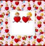 Kid love card Stock Photography