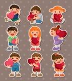 Kid love stickers Stock Photos