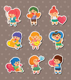 Kid love stickers Royalty Free Stock Images