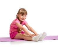 Kid making exercise isolated Royalty Free Stock Photo