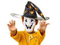 Kid with mask claws hands Stock Photo