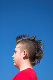 Kid with Mohawk Stock Images