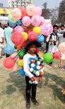 Kid. In Mother language Day fare in Bangladesh Stock Images