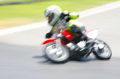 Kid motocross motion blur Royalty Free Stock Images