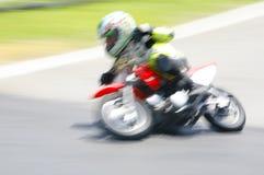 Kid motocross motion blur Royalty Free Stock Images