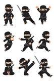 Kid ninja. A vector illustration of different poses of a kid ninja Stock Photography