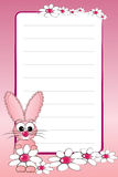 Kid notebook with blank lined page stock images