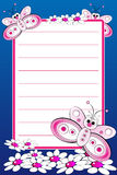 Kid notebook with blank lined page Royalty Free Stock Photography