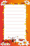 Kid notebook with blank lined page Stock Photo