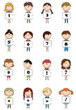 Kid Numbers & Symbols Stock Images