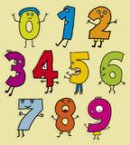 Kid numbers (vector) Royalty Free Stock Images