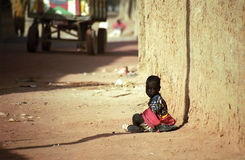 Kid in the old city, Djenne, Mali Stock Image