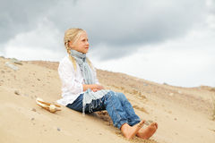 Kid Outdoor Stock Photography