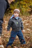 Kid outdoor in autumn Stock Photography
