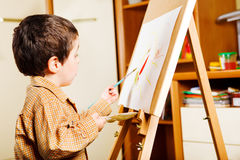 Kid painting Stock Photo